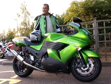 Glen and his Kawasaki ZZR1400